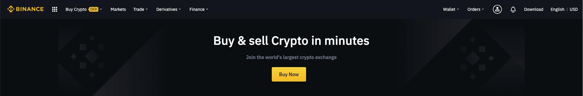 Opret dig på Binance og start med at handle Crypto
