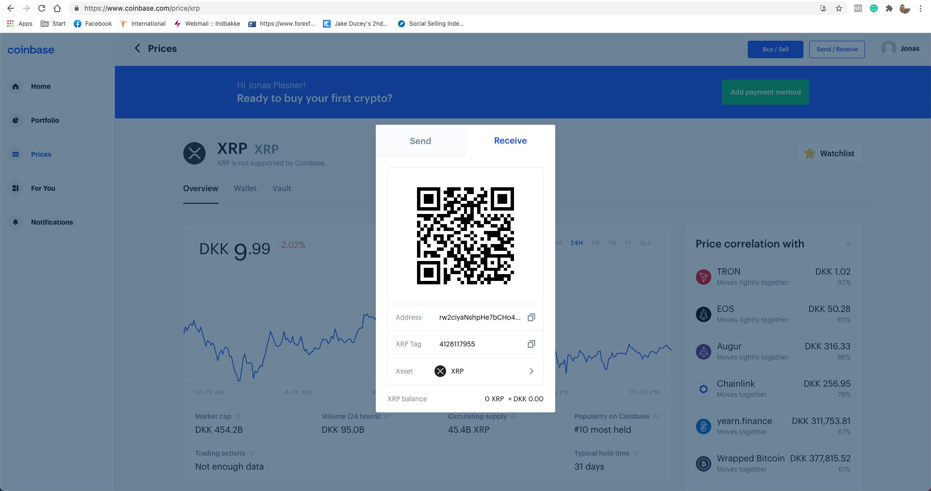 Køb crypto via Coinbase